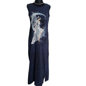 THE MOUNTAIN Maxi Navy Fairy Print Sleeveless S